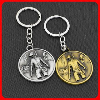 PUBG Keychain PUBG Invitational Emblem Coin Pendant Keychain Keyring Fashion Souvenir Gift Toys