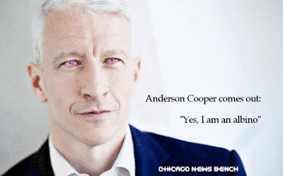 Anderson Cooper is an albino
