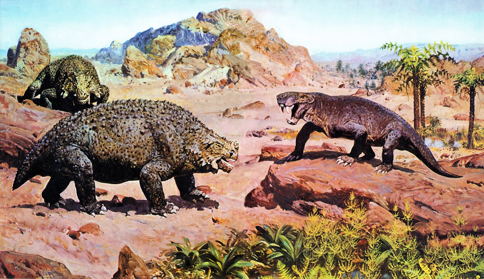 Scutosaurus and Sauroctonus