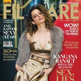 Kangana Ranaut Featuring Filmfare Magazine Cover September 2017