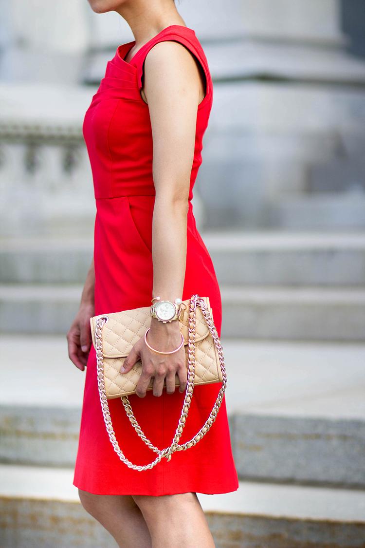 Vibrant Red  J Crew Promotion Dress Review  Elle Blogs