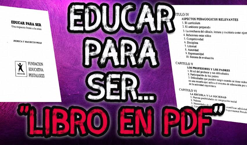 Educar para ser │Libro en PDF