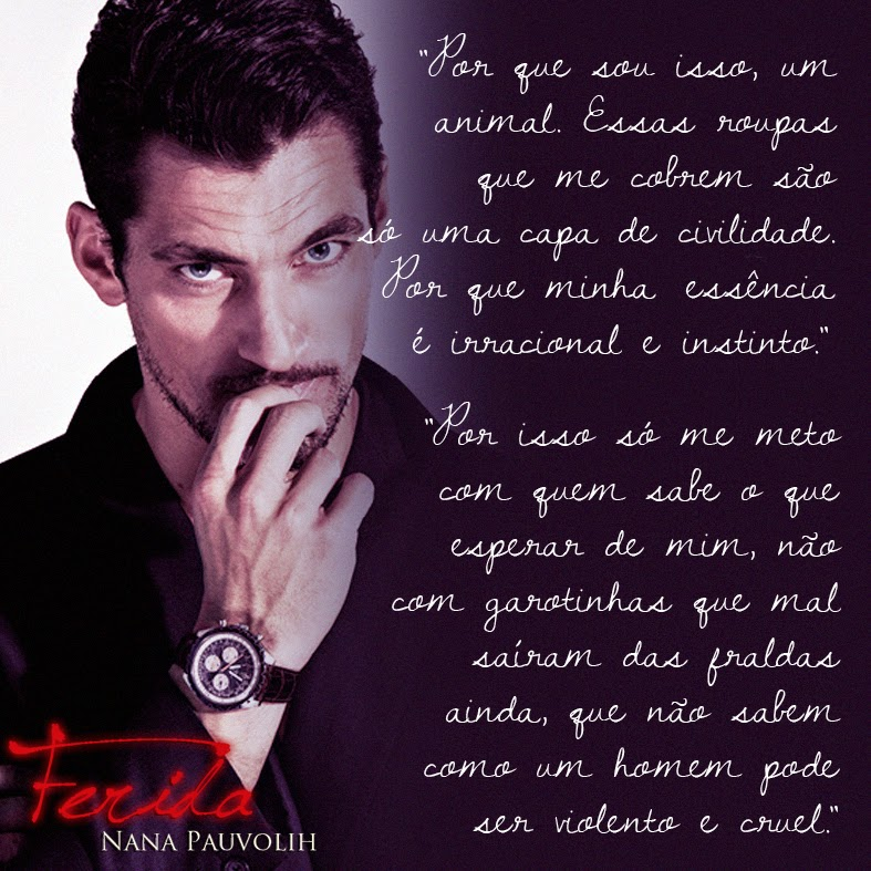 Livro Ferida - Nana Pauvolih - David Gandy