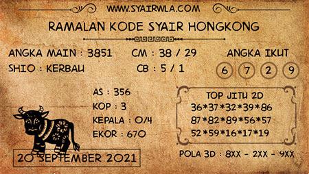 Ramalan HK Malam Ini 20-Sep-2021