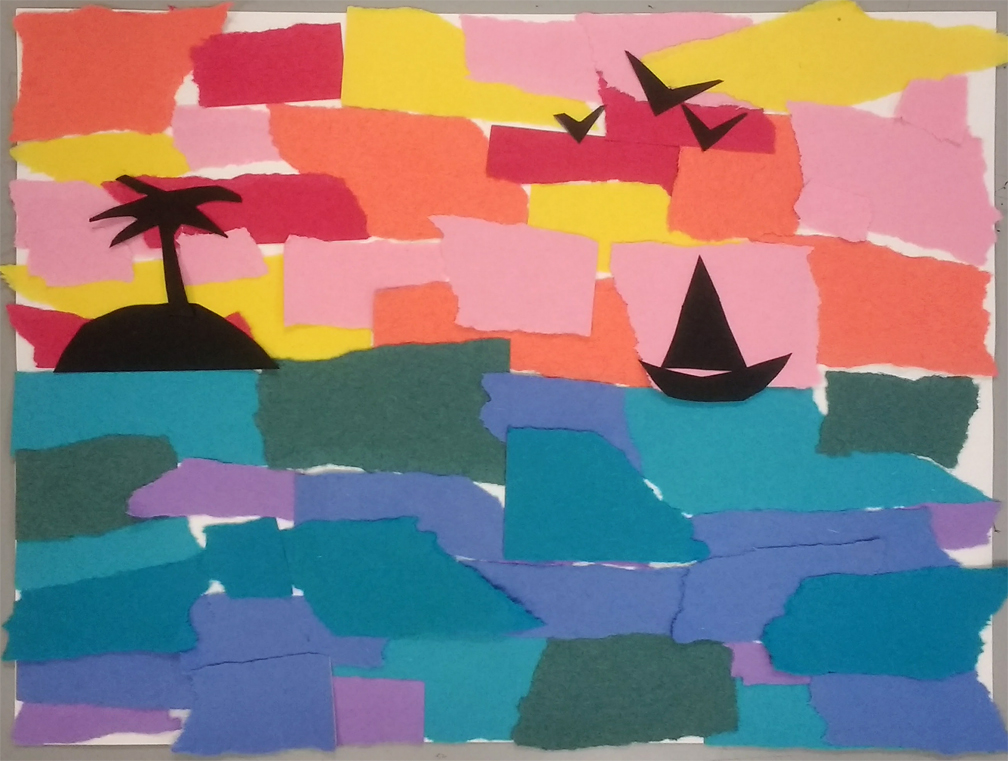 Mr. O\'s Art Room: 2nd Grade Warm and Cool Color Collage