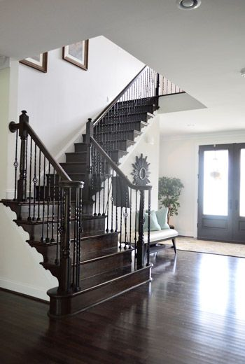 Our Staircase DIY from Carpet to Wood  DWELLINGSThe