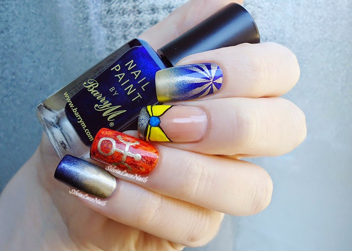 Sailor Moon collab manicure: Sailor Uranus