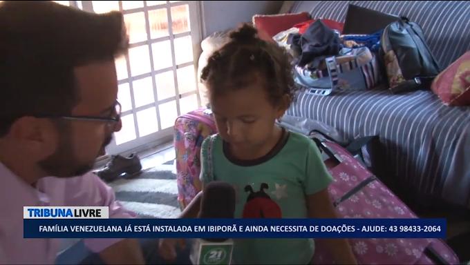 13ª família venezuelana chega a Ibiporã e recebe apoio da comunidade