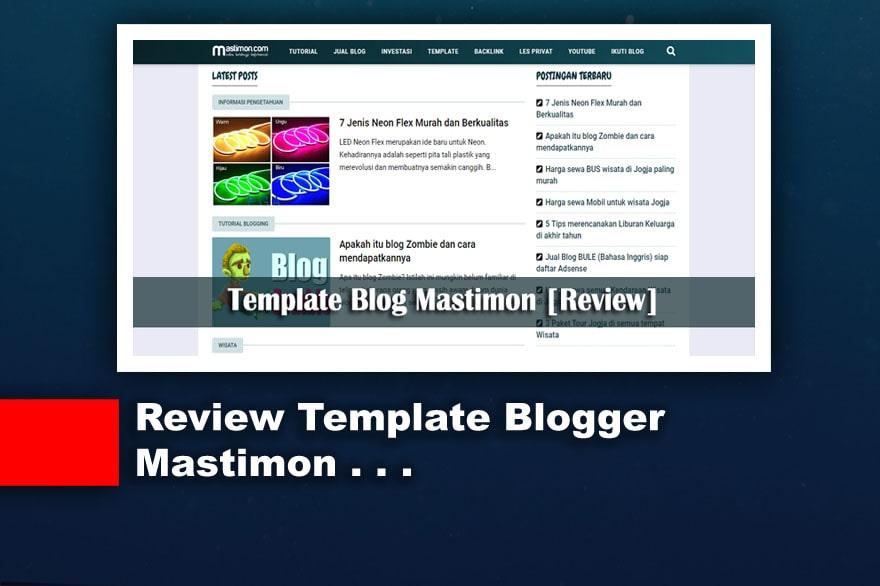 Review Template Blog yang dipakai Mastimon