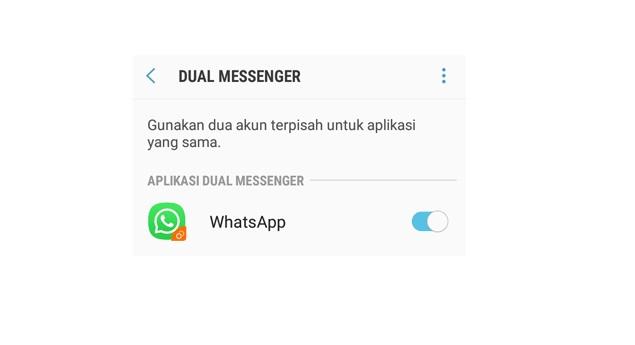 Fungsi Fitur Dual Messenger di HP Samsung