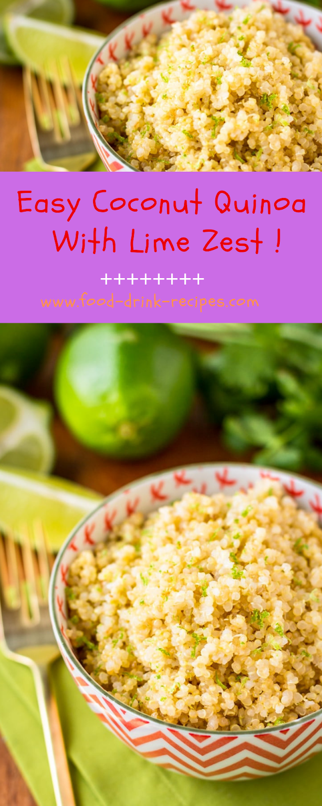 Easy Coconut Quinoa With Lime Zest