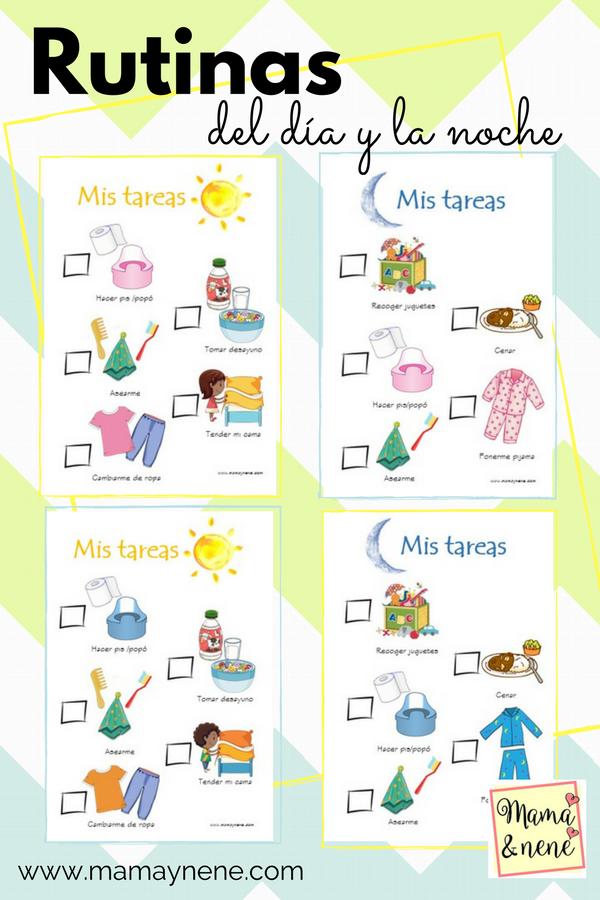 Rutinas de la ma ana y noche imprimibles mam nen maternidad y recursos educativos - Nino 6 anos se hace pis ...