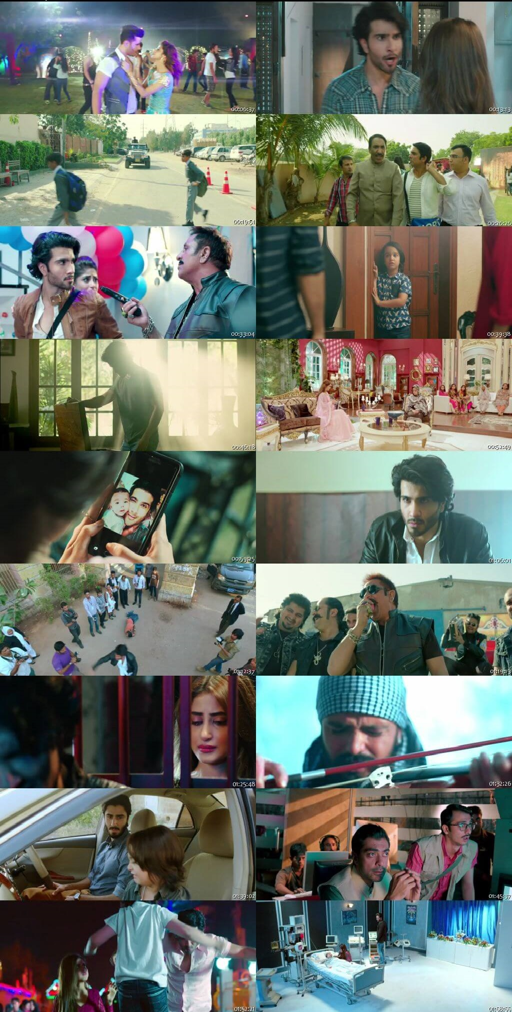 Screen Shot Of Zindagi Kitni Haseen Hay 2016 300MB HDRip 480P Full Urdu Movie Watch Online Free Download