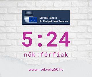 Az Európai Tanács tagjai között 5:24 a nők és férfiak aránya #KORM42