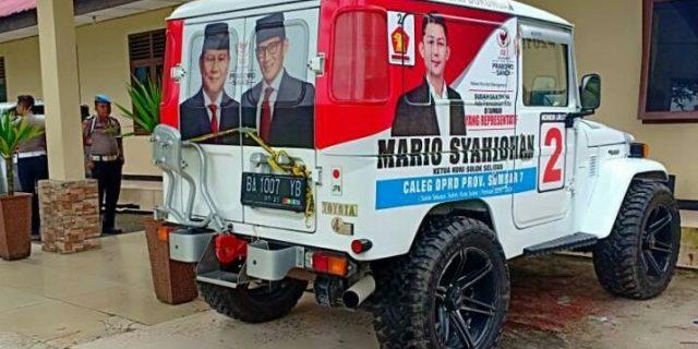 Bawa Shabu, Mobil Operasional Caleg Gerindra Ditangkap