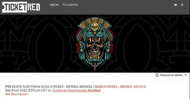 """""""Hasta el momento"""" no hay permiso para el concierto de Guns N´Roses en Mérida"""