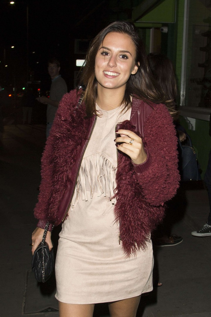 Glamours Newsreader Hot In Mini Pink Dress Lucy Watson