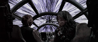 Star Wars Millennium Falcon runs into hyperspace