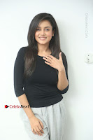 Telugu Actress Mishti Chakraborty Latest Pos in Black Top at Smile Pictures Production No 1 Movie Opening  0043.JPG