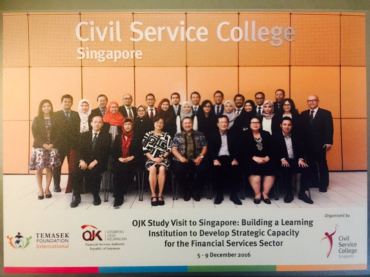 OJK Capacity Building with Temasek International and Singapore Civil Service College