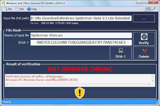 Screenshot SHA-1 : Windows Spiderman Vista V.3 Lite Reloaded (ISO)