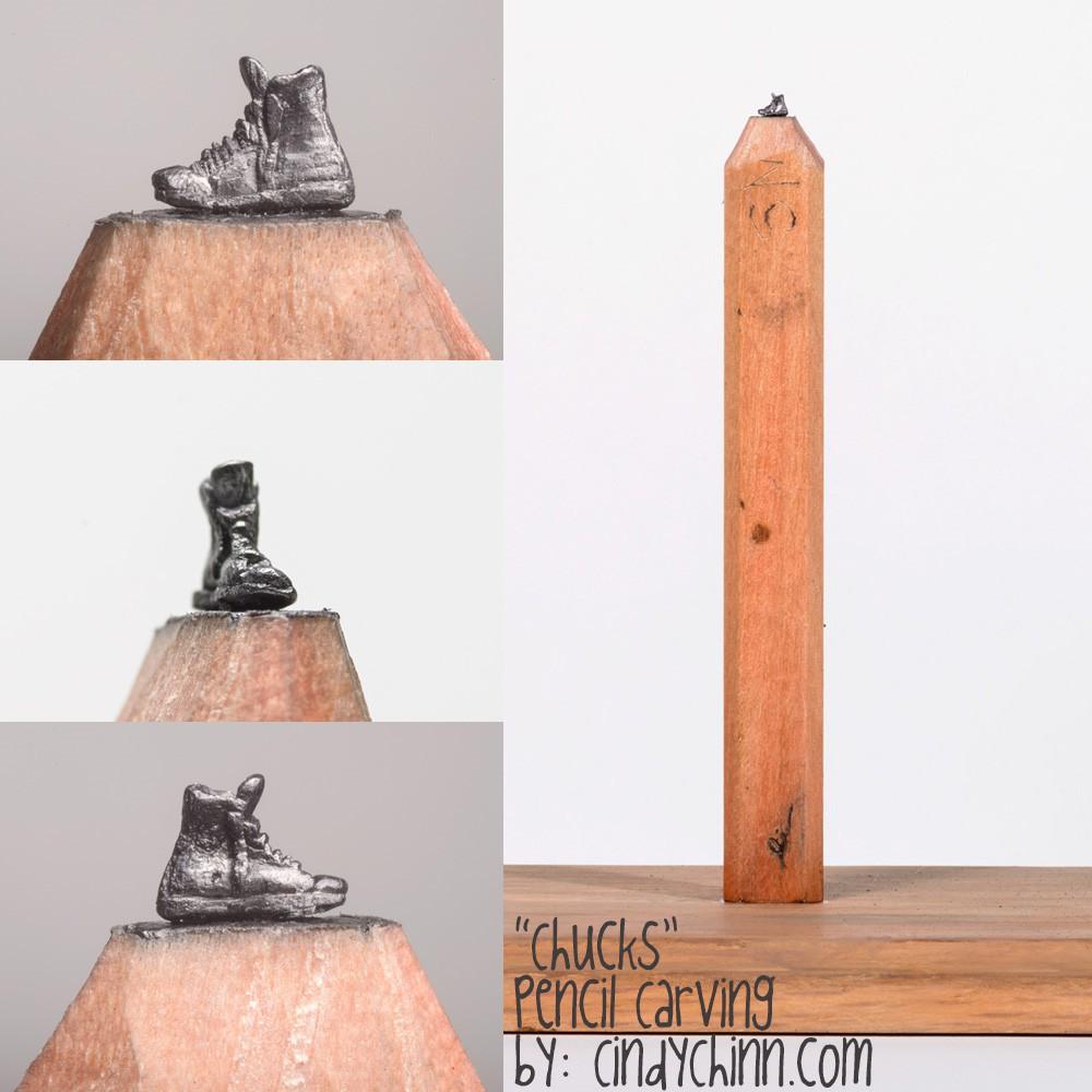 04-Chucks-Shoe-Cindy-Chinn-Miniature-Carvings-of-Pencil-Graphite-www-designstack-co