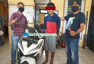 Unit Reskrim Polsek Medang Deras Berhasil Menangkap Tersangka Pencuri Sepeda Motor
