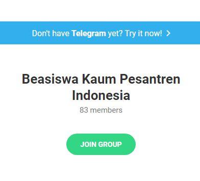 telegram Grup Beasiswa Kaum Pesantren