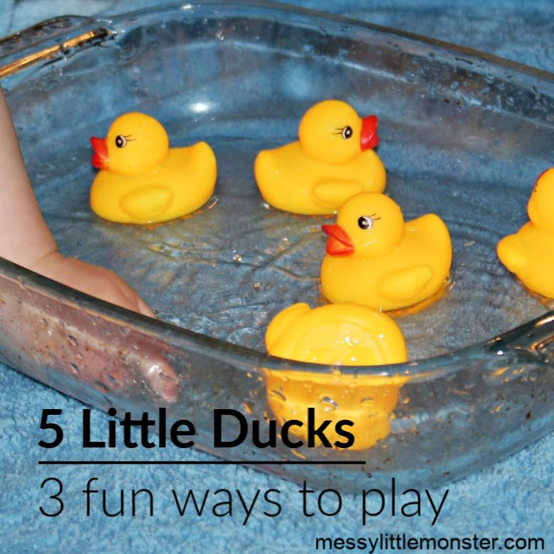 water play for toddlers - 5 little ducks