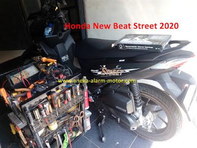 Cara pasang alarm motor remote Honda New Beat Street 2020
