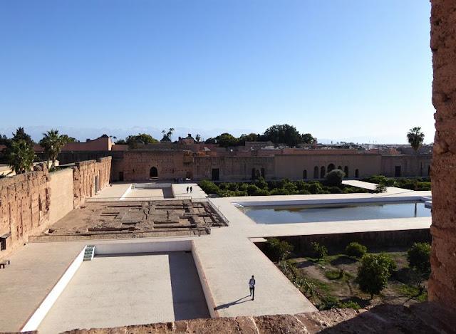 cortile palazzo el badi marrakech