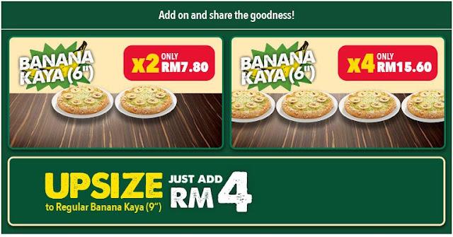 Domino's Pizza Banana Kaya Personal Pizza RM3.90 Super Tuesday Promo