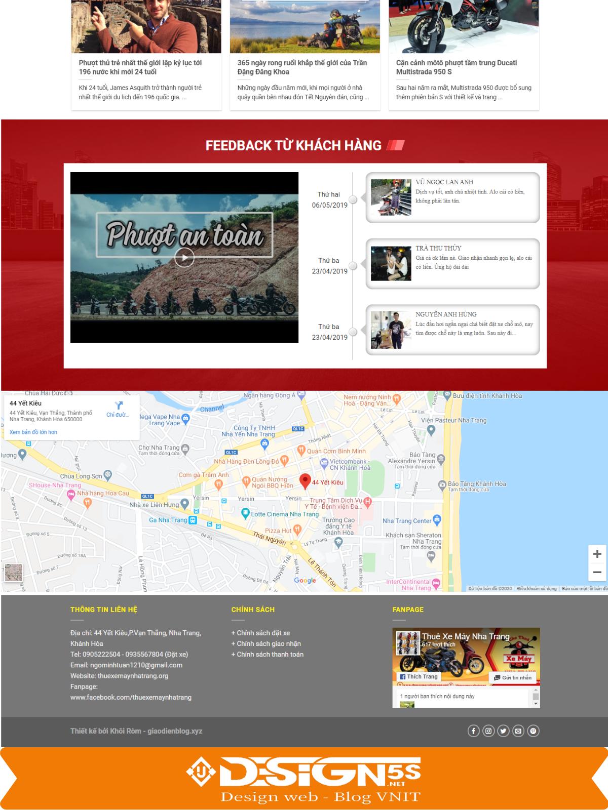Theme blogspot dịch vụ cho thuê xe máy VSM45 - Ảnh 2