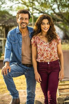 Juliana Paes e Marcos Palmeira formam o casal protagonista de 'A Dona do Pedaço' — Foto: TV Globo/João Miguel Jr.
