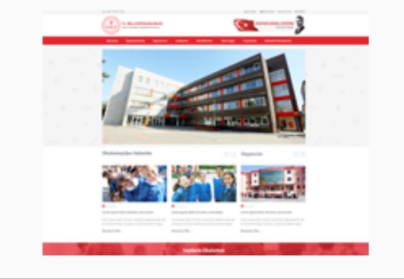 Yeni meb okul site teması ladin