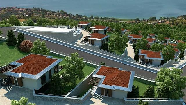 فلل ملكية للبيع في تركيا باطلالة بحيرة سبانجا