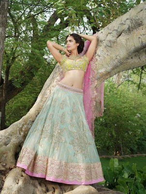 Miss International, Miss India And  Bollywood Actress Esha Gupta In Stylish Lehenga Blouse.
