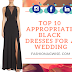 TOP 10 APPROPRIATE BLACK DRESSES FOR A WEDDING