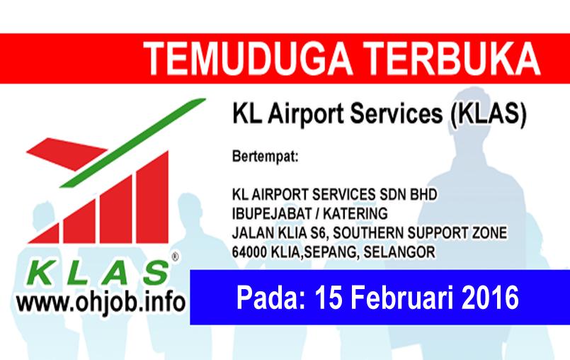 Jawatan Kerja Kosong KL Airport Service Sdn Bhd (KLAS) logo www.ohjob.info februari 2016