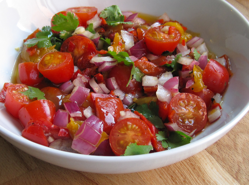 Char-grilled pepper salsa