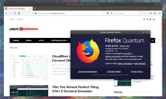 Firefox Quantum Beta Ubuntu