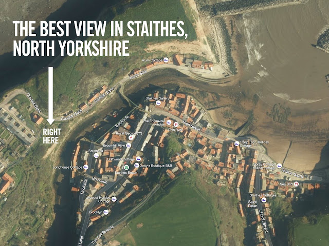 Best view Staithes cottages North Yorkshire best view accommodation UK England Fishing Old Jacks Boat