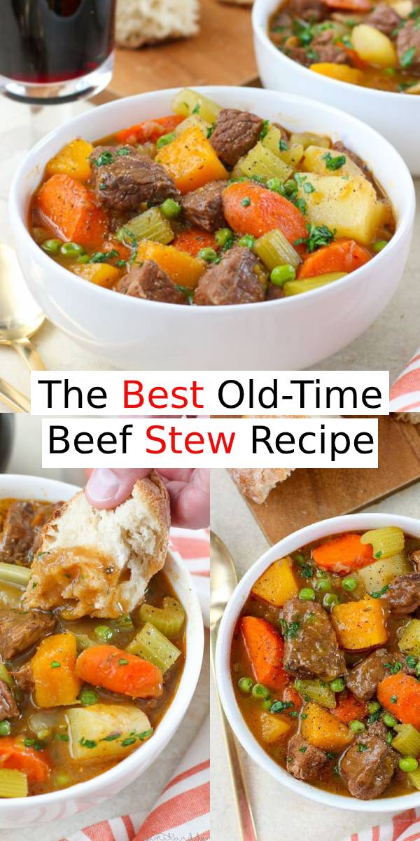 The Best Old-Time Beef Stew Recipe | This stew is very thick and hearty. So, it's very satisfying and perfect for the chillier months of the year. #beef #stew #beefrecipe #dinner #dinnerrecipe