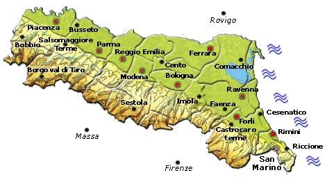 Risorse per chi viaggia in Italia: Cosa vedere in Emilia Romagna