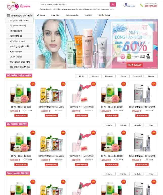 Blogspot bán hàng mỹ phẩm