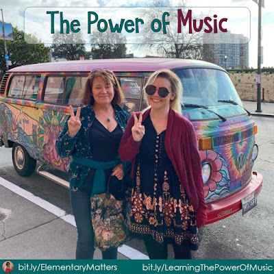 The Power of Music! Listening to music of the 60s reminded me of how valuable music can be in the classroom. This post has suggestions on creating learning songs for the students, (even if you're not musical) and 3 freebie songs.