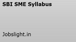 SBI Special Management Executives Syllabus 2017