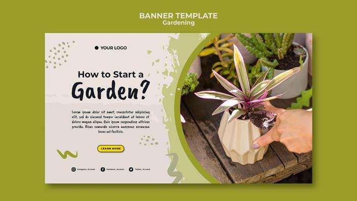 How Start Garden Banner Template