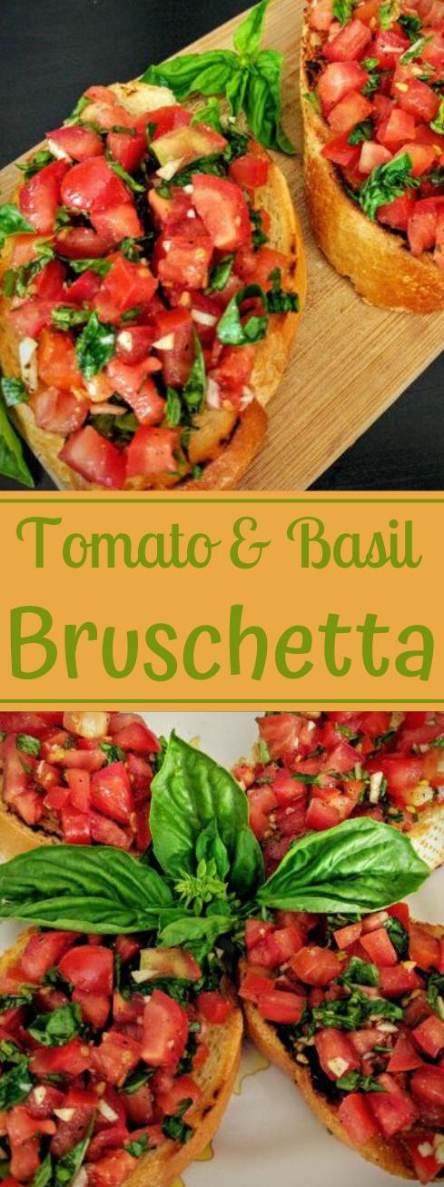 Tomato & Basil Bruschetta #recipe #tomato #vegetable #vegan #dinner