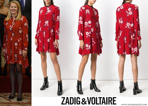 Princess Mabe wore ZADIG & VOLTAIRE floral flared dress